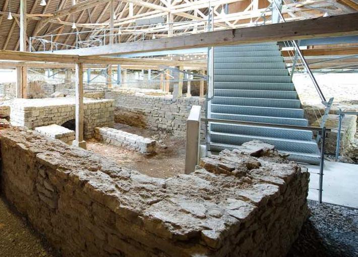 Innenansicht der römischen Badruine Hüfingen; Foto: Infoamt Hüfingen, Matthias Hangst