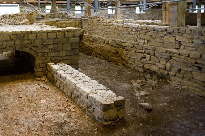 Innenansicht der römischen Badruine Hüfingen; Foto: Staatliche Schlösser und Gärten Baden-Württemberg, Achim Mende