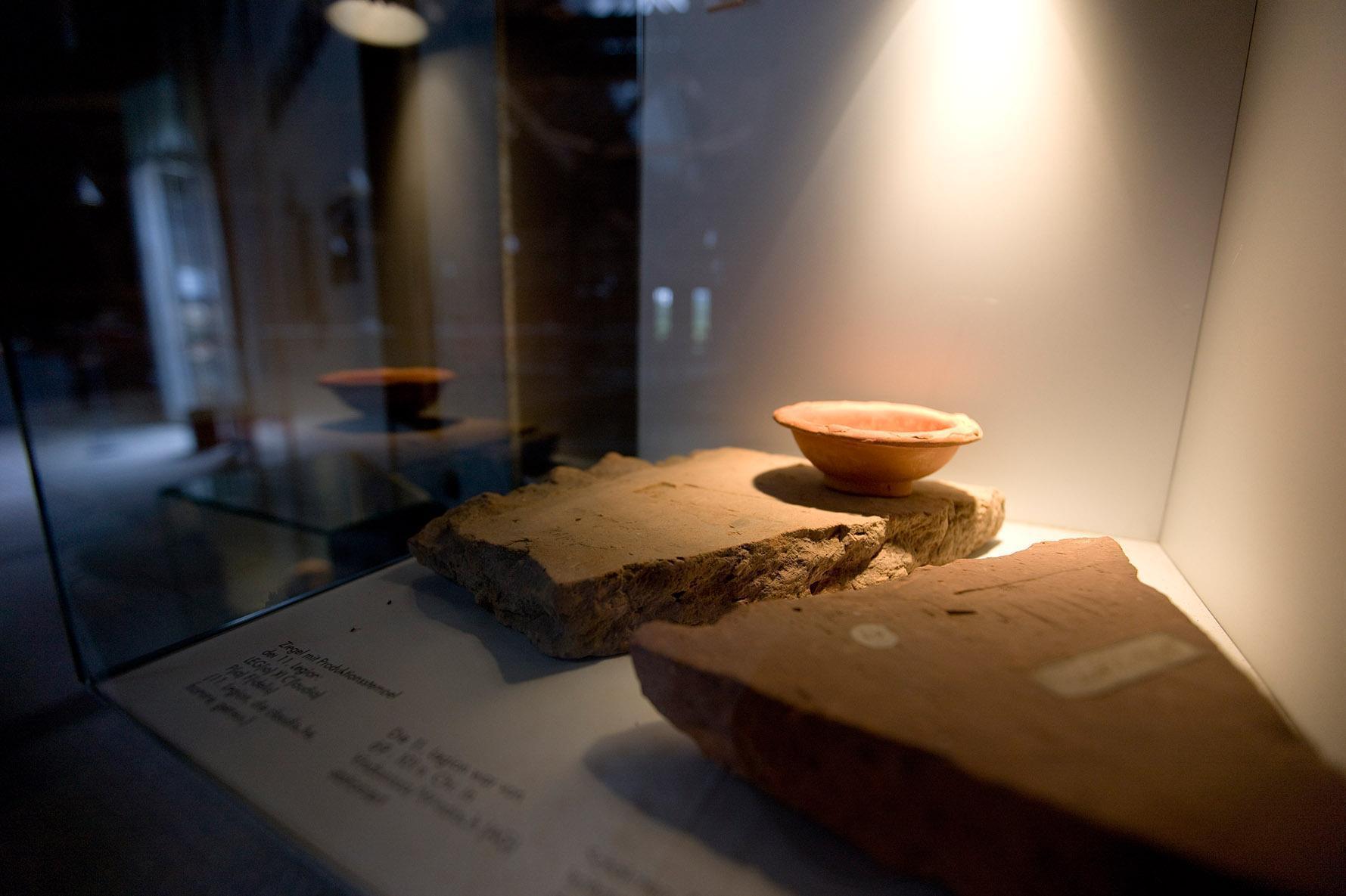 Keramik aus der Römischen Badruine Hüfingen; Foto: Staatliche Schlösser und Gärten Baden-Württemberg, Achim Mende.