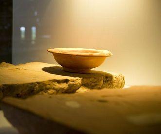 Römische Waschschüssel in der römischen Badruine Hüfingen