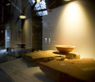 Vestiges des bains romains à Hüfingen, pièce d'exposition