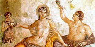 Badruinen Hüfingen, Herculaneum Fresko, Gelage bei den Römern