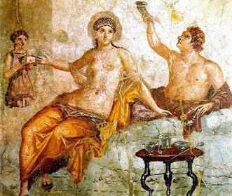 Fresko aus Herculaneum; Foto: Wikimedia commons, gemeinfrei.
