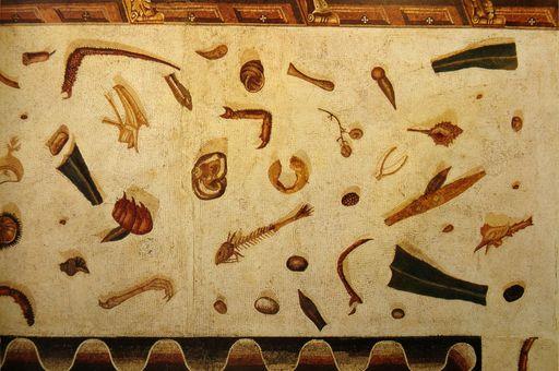 Römisches Fußbodenmosaik aus den Vatikanischen Museen; Foto: Wikimedia commons, gemeinfrei.