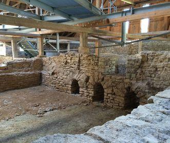 Innenansicht römische Badruinen Hüfingen