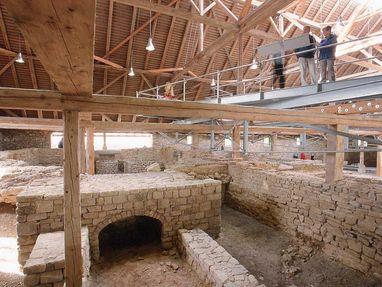 Römische Badruine Hüfingen, Besucher in der Badruine